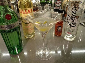 Watching Spectre. Drinking a Vesper.