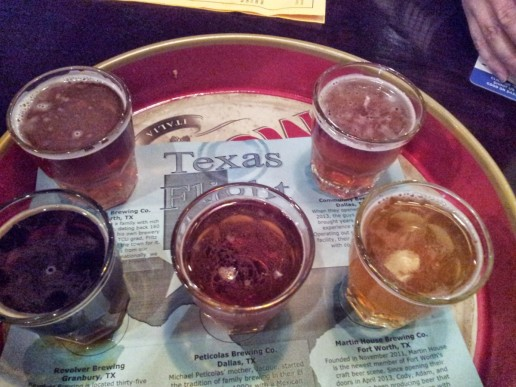 Texas flight of beers