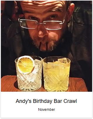 2015 - Andy's Birthday Crawl