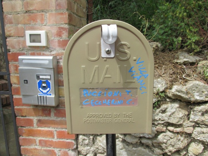 why is the villa's mail box a US mail box?