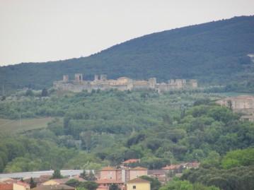 Monteriggioni from the villa