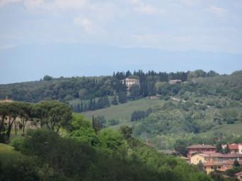 The villa from Monteriggioni