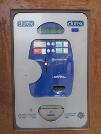 what looked like a cash point in the main square turned out to be a condom vending machine!