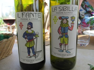 with wine