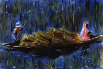 Boat (30x20cm acrylic February 2004)