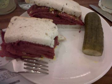 Regular salt beef on rye @ The Brass Rail Selfridges