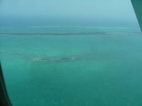 we flew to the cayes