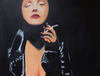 Christina Ricci (40x30cm acrylic May 2008)