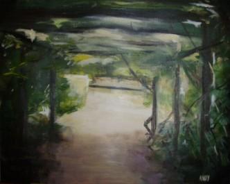 Cresent Garden, W9 (50x40cm acrylic August 2007)