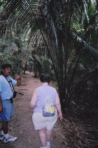 The final destination of the trip was the Mayan ruins at Lamanai, where Daniel (pictured) gave a brief history of the site and Mayan culture.