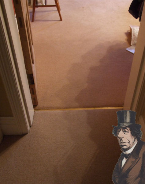 Iron board shadow that looks like Benjamin Disraeli!