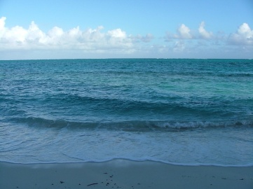 I was sent down to the beach every morning with the digital camera to take a picture of the sea so that the Sents could decide if they wanted to go snorkelling or not depending on how choppy it was. Here's an example picture from a day that they decided was just about OK