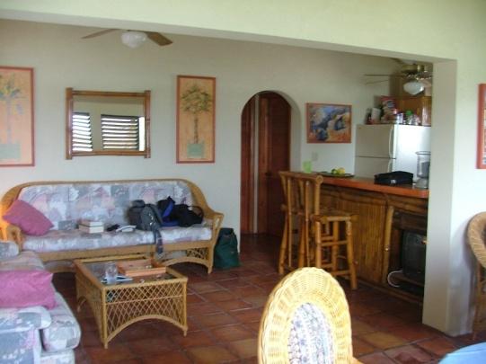 Here's the interior of the villa