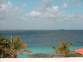 with a view of the smaller island of Klein Bonaire