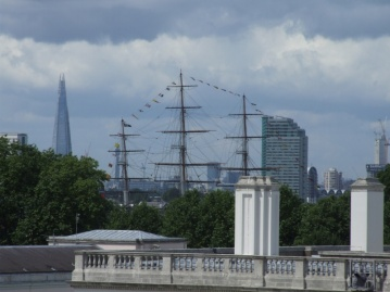 A tall ship passed by on the river...