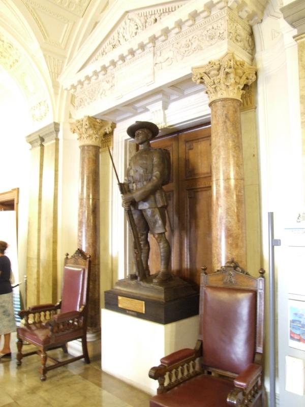 A Gurkha statue