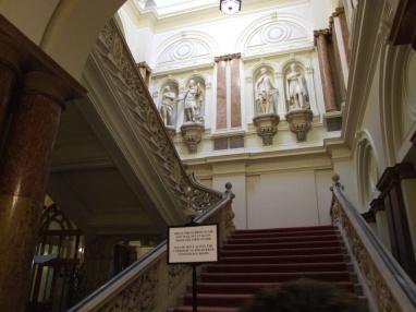 Gurkha staircase - where the gurhka statue used to be