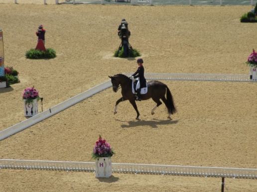 Charlotte Dujardin on Valegro (aka Blackberry!) for Team GB. She went on to win both Team and Individual Gold. A first!
