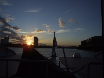Sunset on the Thames as we get the Clipper back to Embankment.