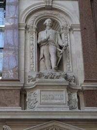 Cornwallis' statue in the Durbar Court