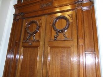 Some beautiful mahogony doors