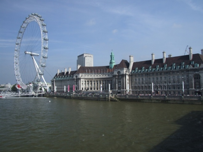 ...on to the south bank and the Thames Festival...