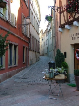 A small street (well they were all pretty small!) in Petite France