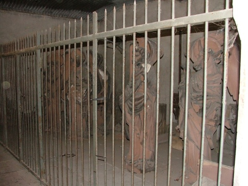 Statues in jail.