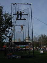 DIY trapeze at the Tate Modern