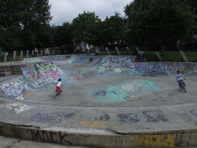 The only interesting thing here is the skate bowl.