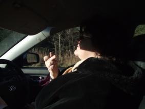 Michelle drove us