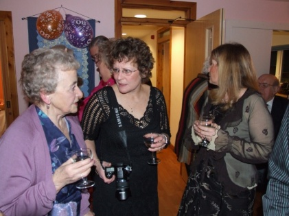 While Trudy put her feet up, Janis and Norma organised her birthday party