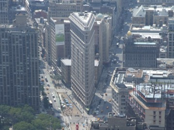 Flat Iron building from a different perspective