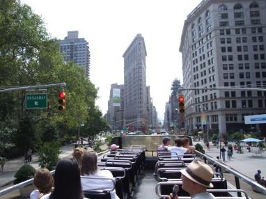 Open-topped bus tour