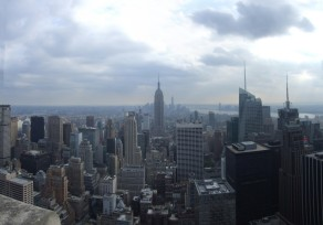 Downtown from the Rockefeller Center observation platform
