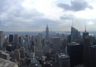 Downtown from the Rockefeller Center observation platform
