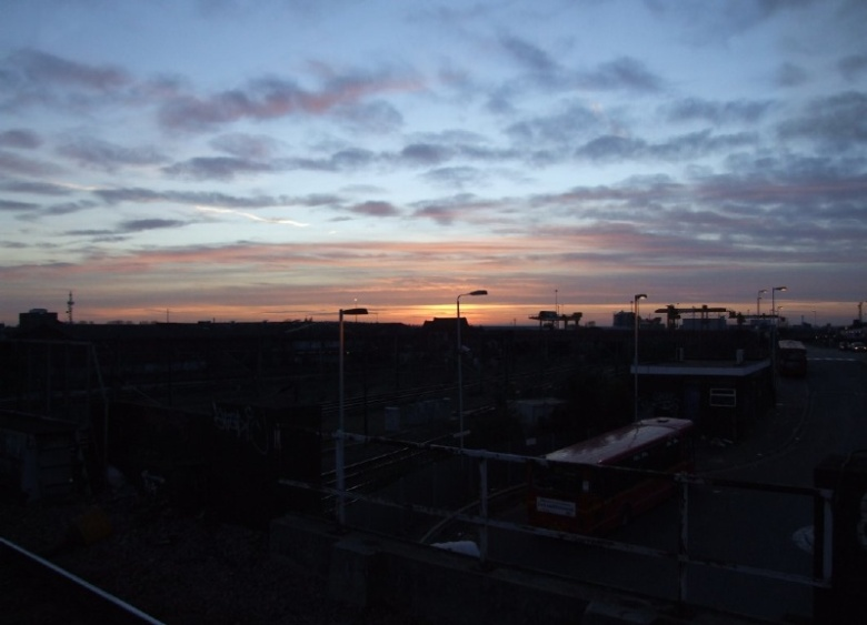Sunset at Willesden Junction