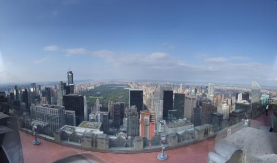 Uptown from the Rockefeller Center observation platform