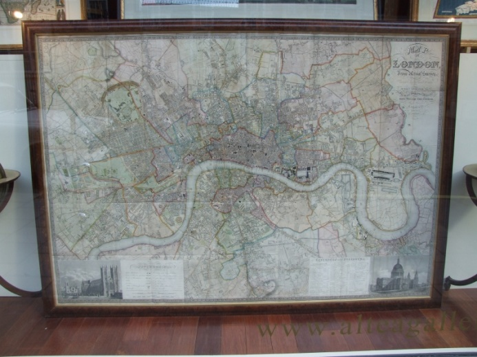 MAP of LONDON From Actual Survey comprising the Various Improvements to 1835.