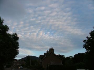 The sky outside Mum's