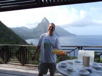 John prepared some fabulous breakfasts with fruit salads