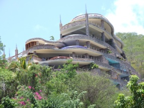 and the half built Jade Mountain resort