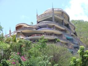 and the half built Jade Mountain resort