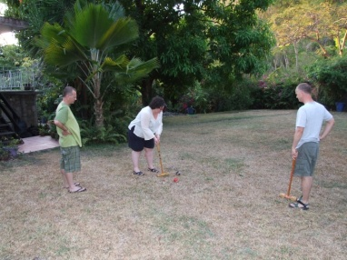 and there's a place to play croquet