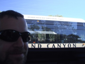I'm not sure why Michelle took this picture of the bus, but she was giggling.