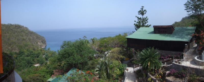 From the villa it is a short drive down to Anse (bay) Chastenet