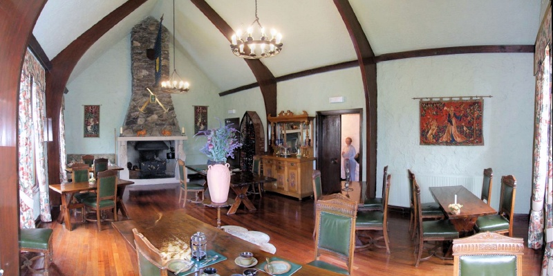 the dining room where we stuffed ourselves silly each night and morning
