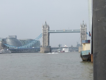 Is that a massive cruise ship next to HMS Belfast?