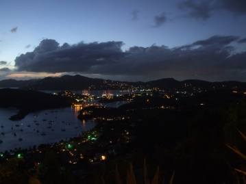 night time view from Shirley Heights
