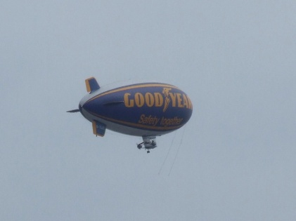 Goodyear Blimp over the Thames